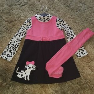 Dalmatian Jumper & Matching Tights
